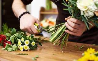 Букет хризантем белых