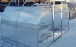 Теплица кабриолет со съемной крышей