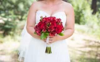 Свадебный букет из альстромерии