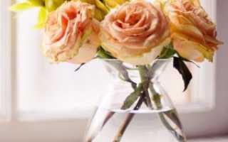 Что надо сделать чтобы розы стояли дольше