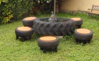 Что можно сделать из колеса для сада